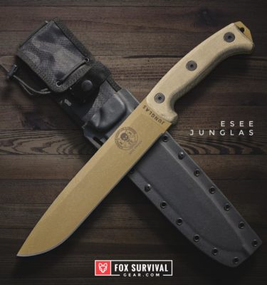 "ESEE Junglas 10"" Survival Knife with Kydex Sheath"