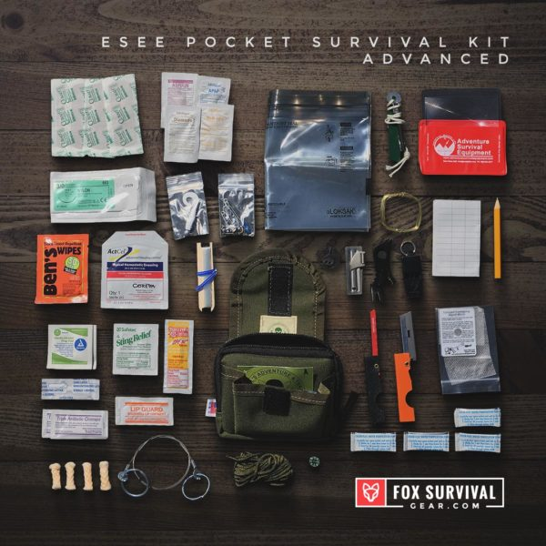 Contents of the ESEE Pocket Survival Kit - Advanced