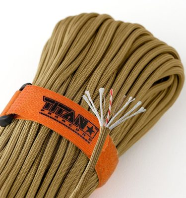 TITAN SurvivorCord with fishing line, copper wire & jute