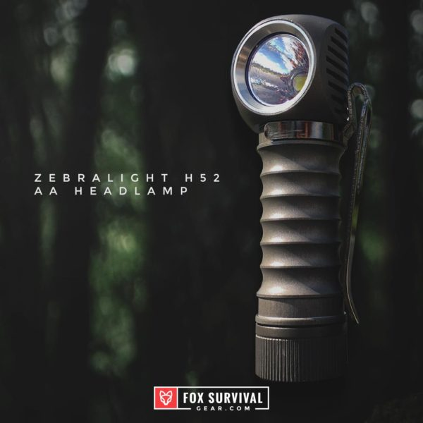 Zebralight H52 AA Headlamp with belt clip