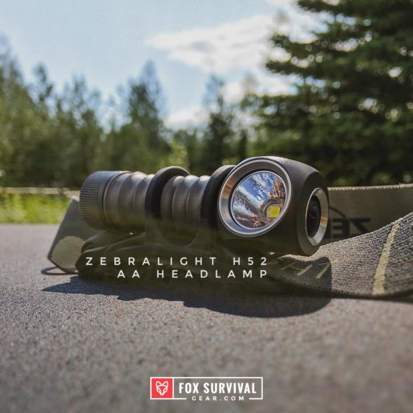 Zebralight H52 AA Headlamp with headband